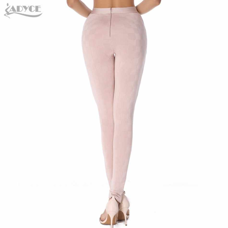55e38c3a86f349 ... 2018 Women Summer Runway Leggings Skinny Pants Black White Olive  Apricot Stereo Jacquard Celebrity Party Bodycon ...