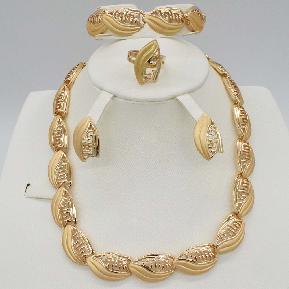 Jewelry Sets Women Indian African Jewelry Set Plant Party