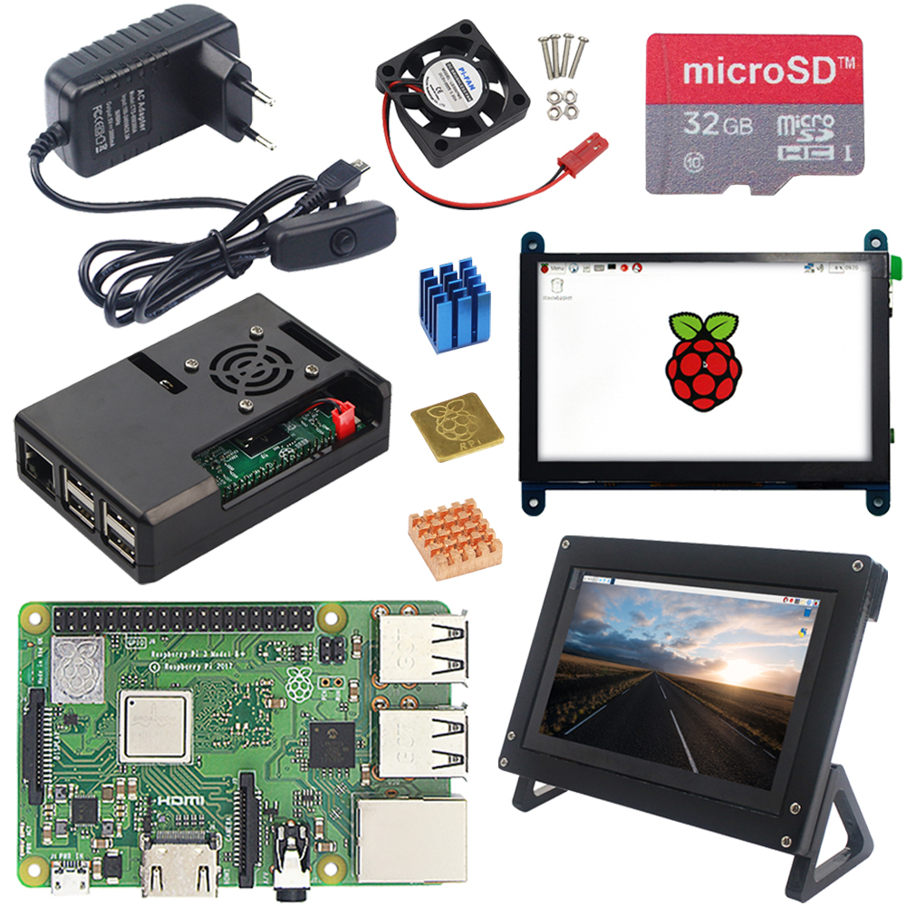 "3.5/"" Touch Screen Monitor LCD Display Module Heatsink for Raspberry Pi 3 2 B A+"