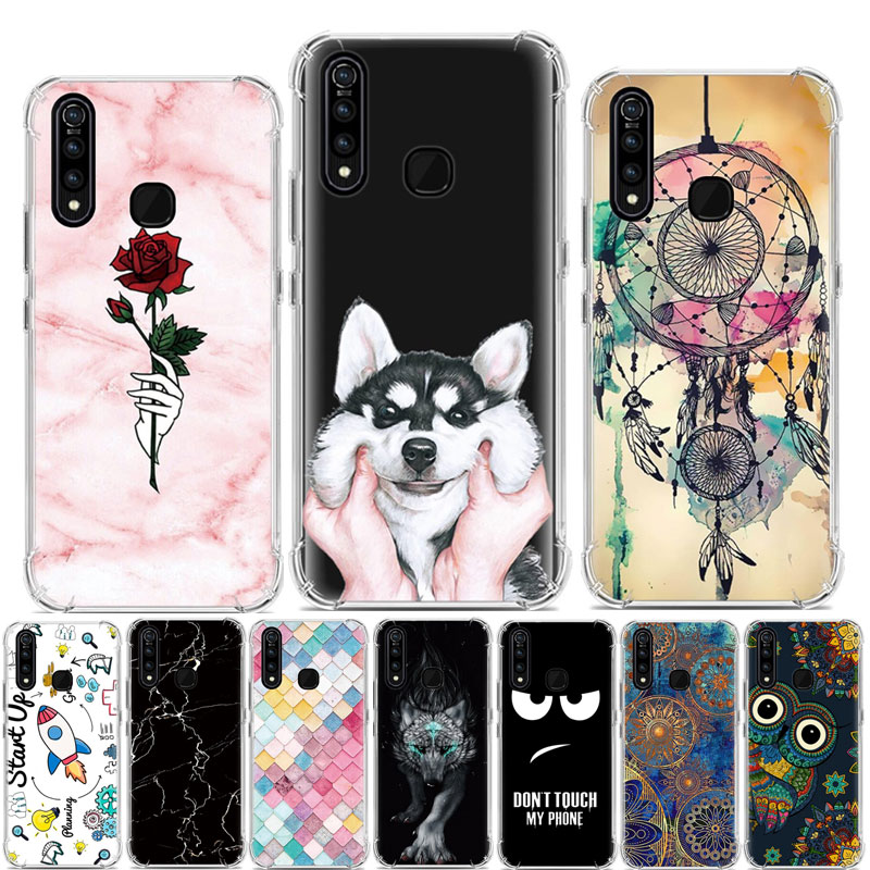 For Vivo Z5X Case Cartoon Painted Silicone Phone Case For Vivo Z1 Pro Case Soft TPU Back Cover For Vivo Z5X Z 5X VivoZ5X Case