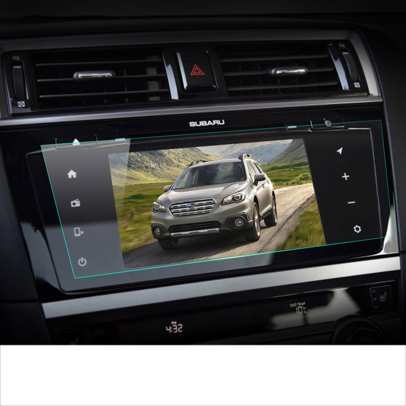 lsrtw2017 car navigation GPS screen protective toughened film for subaru forester xv outback legacy 2015 2016 2017 2018 2019