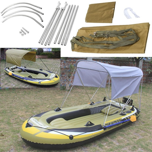 Surfing Kayak Canoe Boat Top Kit Inflatables Boat Sun Shelter Sailboat Awning Top Cover Tent Sun & Surfing Kayak Canoe Boat Top Kit Inflatables Boat Sun Shelter ...