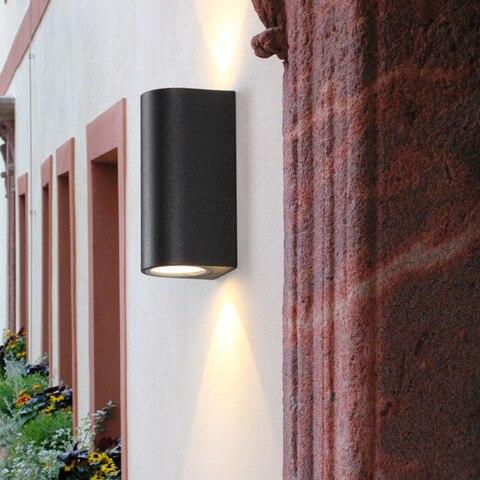 preto ao ar livre lampada de parede