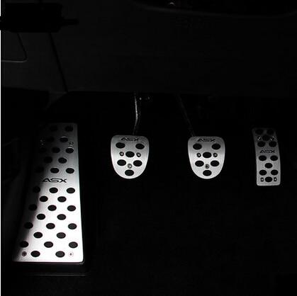 car Accelerator Gas Brake pedal Clutch Pedal car styling fit For Mitsubishi Outlander ASX PAJERO LANCER EX Evolution Grandis
