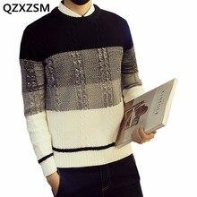Qzxzsm 2017 Лидер продаж мужская Модные свитеры Повседневная Уличная одежда с круглым вырезом пуловер с длинными рукавами для мужчин Англии Стиль Прямая доставка