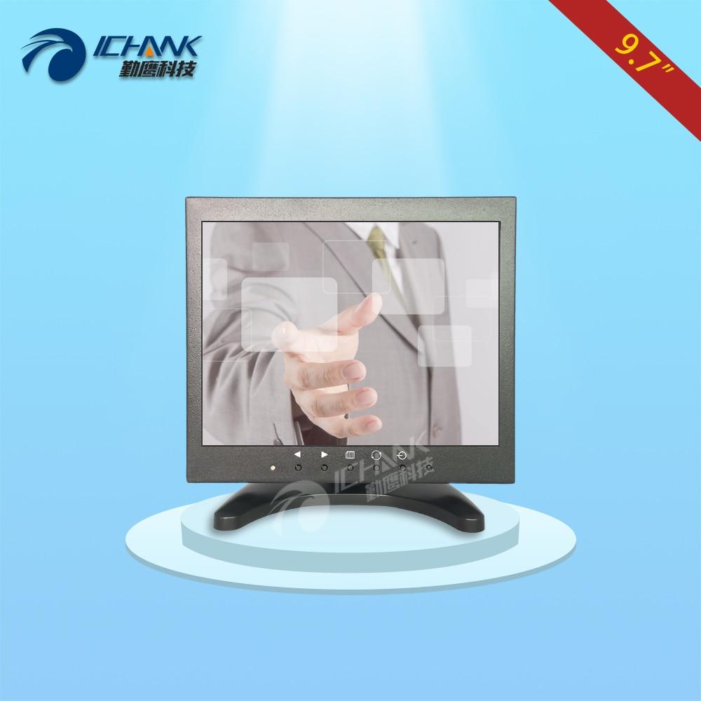 ZB097TC-V591/9.7 pouce 1024x768 4:3 HDMI VGA Support mural Boîtier Métallique Tactile Équipement Industriel Moniteur LCD Écran D'affichage
