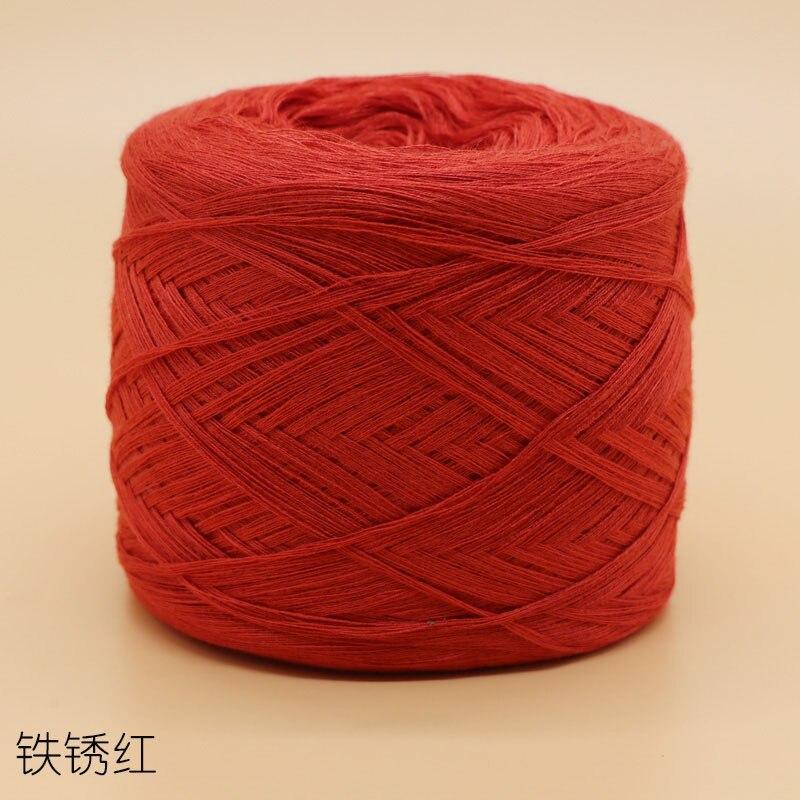 250 г/шт., белая, небеленая, оригинальная, Экологичная, здоровая, хлопковая, вязаная пряжа, детская, натуральная, мягкая, пряжа для вязания крючком - Цвет: rust red