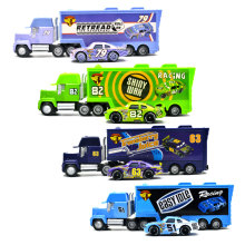 Disney Pixar Cars 2 3 Bil Leker 2Pcs / Set McQueen Mack Uncle Jimmy King Jackson Storm 1:55 Diecast Metal Alloy Modell Leker Boys