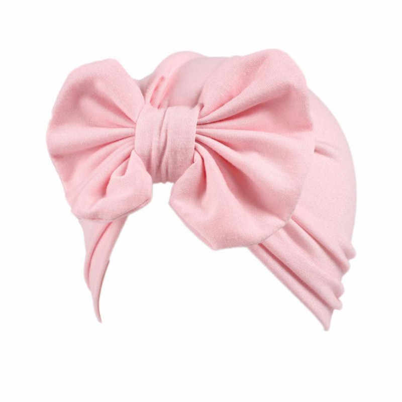 Fashion Bow-knot Headdress Children Baby Girl Hat Boho Hat Beanie Scarf Turban Head Wrap Cap Newborn Photography Props Knit Cap