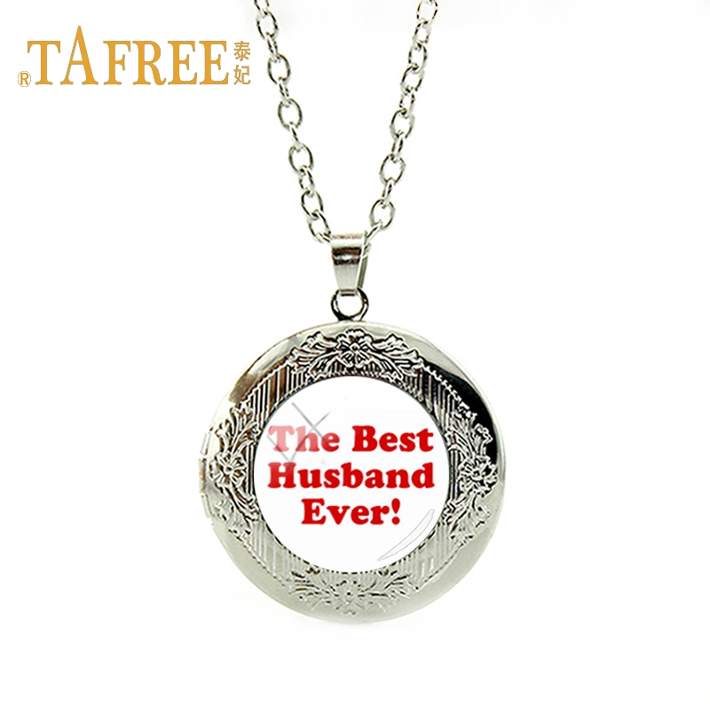 TAFREE Simple and beautiful locket necklace The Best Husband Every for Husband Valentines Day gift pendant jewelry VD083