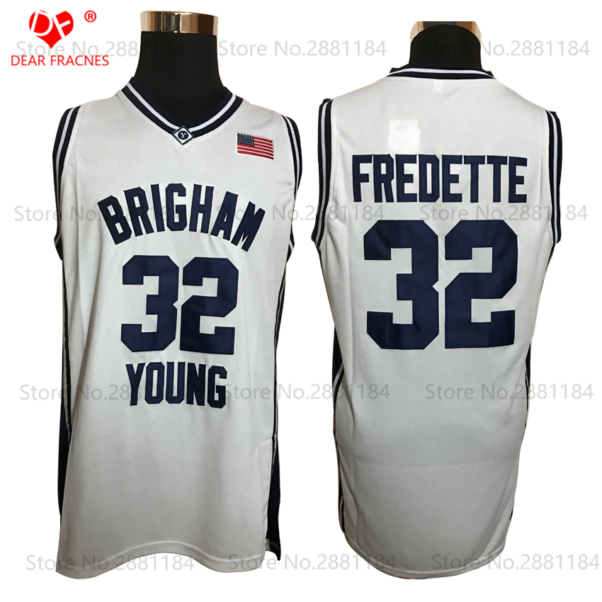 b10bcd5314c ... 2017 Cheap 32 Jimmer Fredette Jersey Throwback Basketball Jersey  Brigham Young BYU College Jersey Sewn Shirt ...