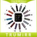 2016 correa de nylon para iwatch apple watch 38mm 42mm tejido banda OTAN Correa Correa de Muñeca Pulsera de Múltiples Colores + Mejorado adaptador