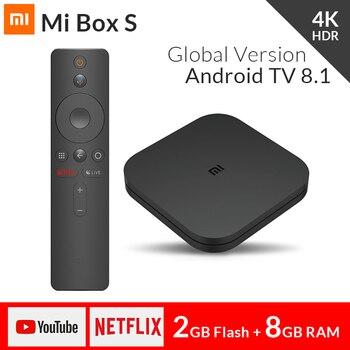 2018 Original Xiaomi Mi TV BOX S Smart 4K Ultra HD 2G 8G Android 8.1 WIFI Google Cast Netflix Media Player IPTV Set top Box 3