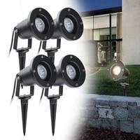 4pcs LED Garden Lawn Light IP65 Waterproof Outdoor Garden Spot Light 4w Spike Lamp garden spot Landscape Spot Lights