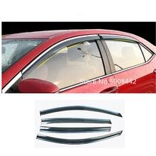 Para toyota corolla altis 2017 2018 2019 capa de carro plástico janela vidro vento viseira chuva/sun guard ventilação quadro lâmpada 4 pçs