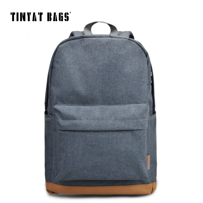 TINYAT Men's 15 inch laptop backpack computer school backpacks rucksacks le..