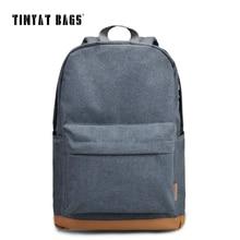Tinyat Для мужчин 15 дюймов компьютер, ноутбук рюкзак рюкзаки школьные рюкзаки для отдыха для мальчиков-подростков Mochila мужской Эсколар серый 1101