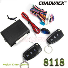 new Flip key remote Keyless Entry System for Volkswagen vw car 12V Central lock Locking system with LED indicator CHADWICK 8118 remote central door lock system with flip key remote controls many key blanks are selectable suitable for all 12v cars