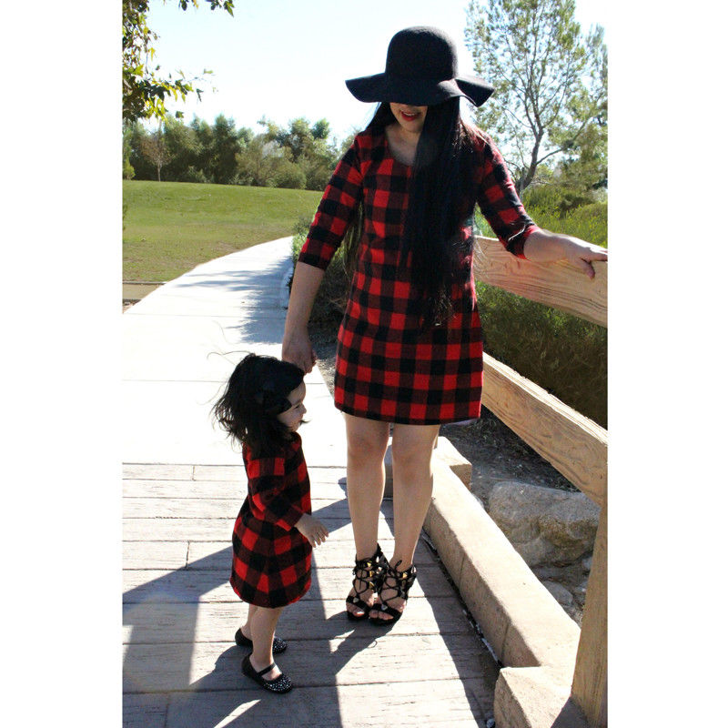 afd93fd04a Mom Girl Family Matching Mini Dresses Costume Women Mother Kid Baby Girl  Boho Dress Outfit Clothing Set-in Matching Family Outfits from Mother & Kids  on ...