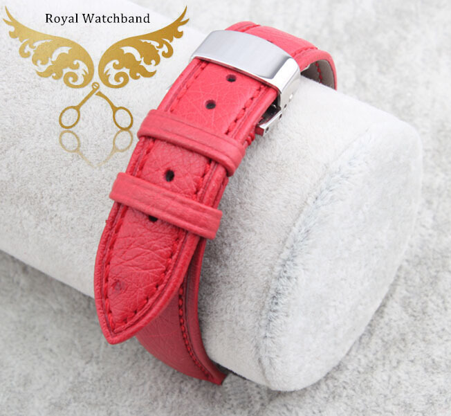100% Genuine ostrich skin leather watchbands strap bracelets silver deployment watch buckle free shipping
