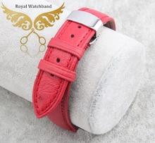 100 Genuine ostrich skin leather watchbands strap bracelets silver deployment watch buckle free shipping
