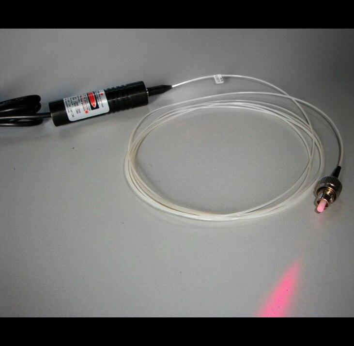 цена на 650nm 10mW Red Fiber coupling Laser dot Module Positioning Laser / Single Mode Dot FC Interface
