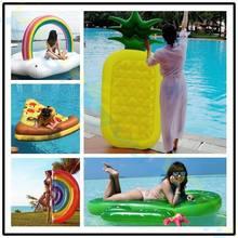 Надувной бассейн поплавок ананас плавательный кольцо малыш взрослый вода игрушка boia piscina спасательный круг надувной воздушный матрас поплавок остров