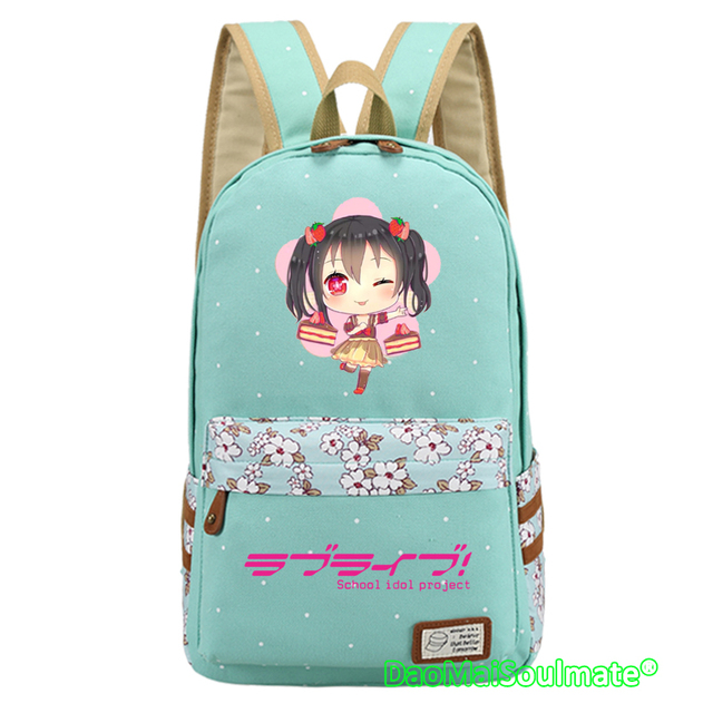 7ab65587c2 Anime Love Live Girl Backpack Girls School Bags Laptop Backpacks Cartoon  Lovelive Backpack Students Children Shoulder Rucksack