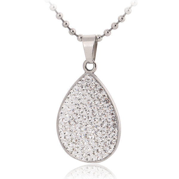 Stainless Steel statement stone necklace for women jewerly wholesale crystal necklace fashion 2016