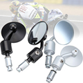 "7/8"" Motorcycle Bike Round CNC Aluminum 3"" Handle Bar End Rearview Side Mirrors Free Shipping"