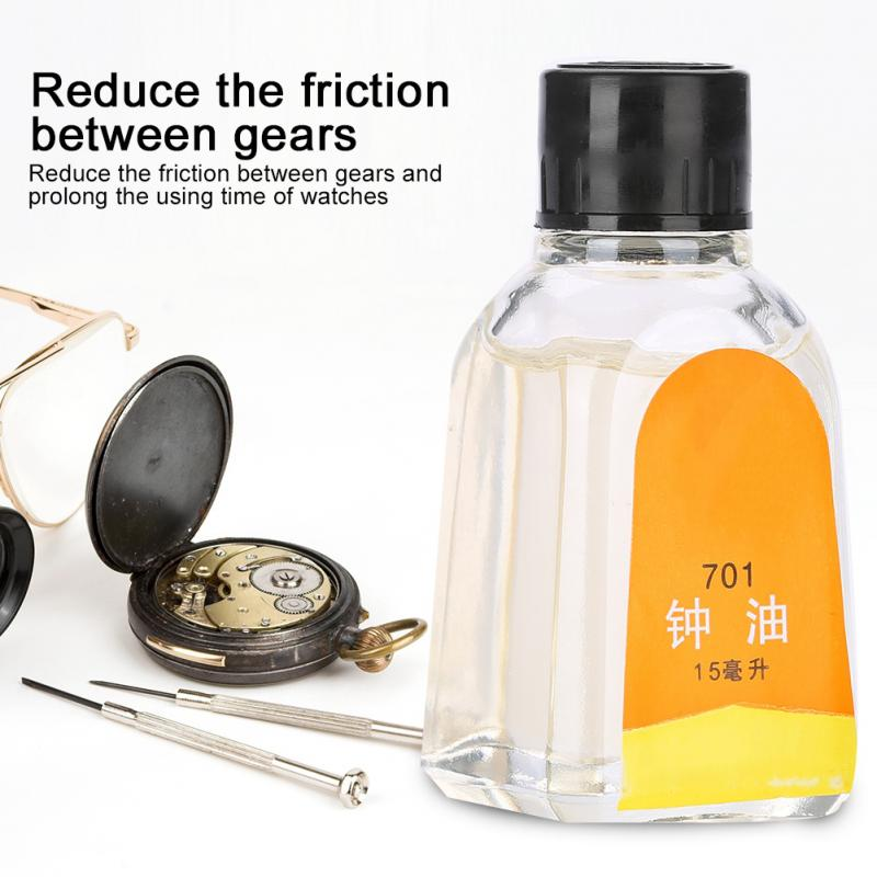 Watch Oil for Pocket Watch All Watches Lubricating Good quality Clock Lubricant Oil Cleaning Watch Tool Accessories 701-15ml goosuu watch tools colck oil 30ml china chinese brand clock oil lubricating oil free shipping