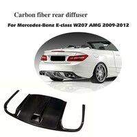 Carbon Fiber Bigger Rear Bumper Diffuser Lip For Benz E Class W207 AMG 2010 2012 Exhaust Diffuser Car Styling