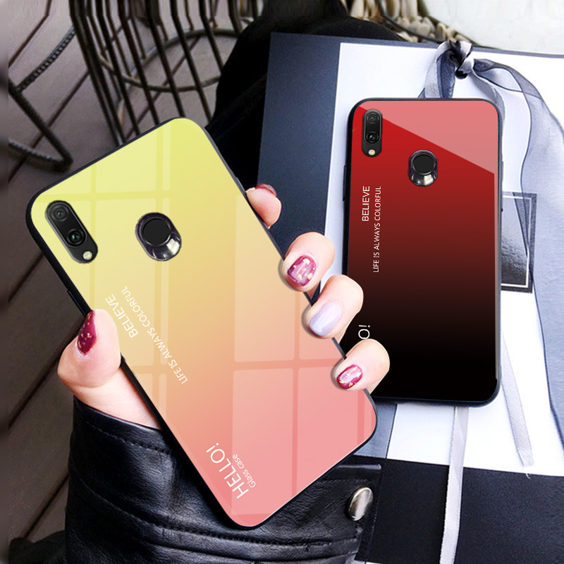 Gradient Tempered Glass Phone Case For ASUS Zenfone ZB601KL ZB631KL Protective Case For ASUS Max Pro M2 M1 ZB601KL ZB631KL Cover-in Fitted Cases from Cellphones & Telecommunications