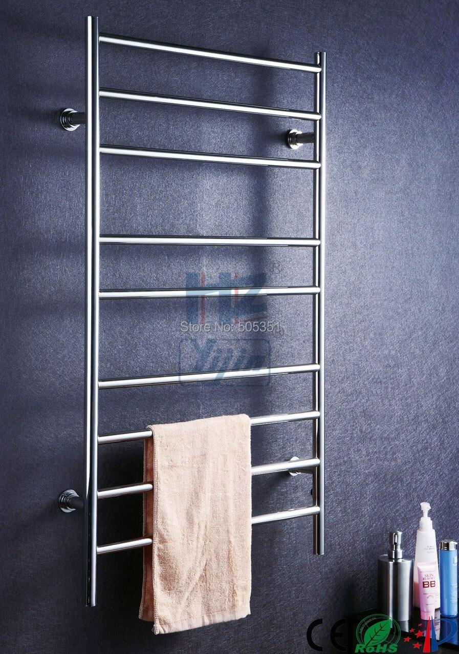 Polishing Bathroom Towel Rack Heater Electric Towel Heater Stainless Steel Bathroom Shelf Towel