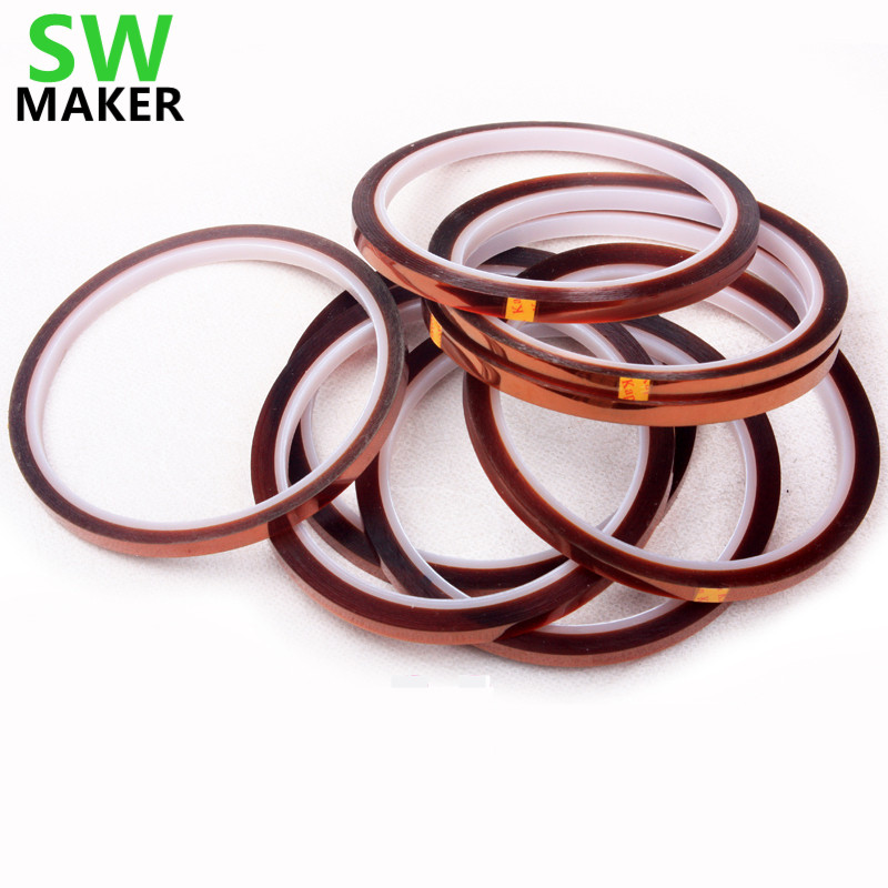 SWMAKER 3mmx33m 10pcs Kepton Tape High Temperature BGA Heat Resistant Polyimide Reprap 3D Printers