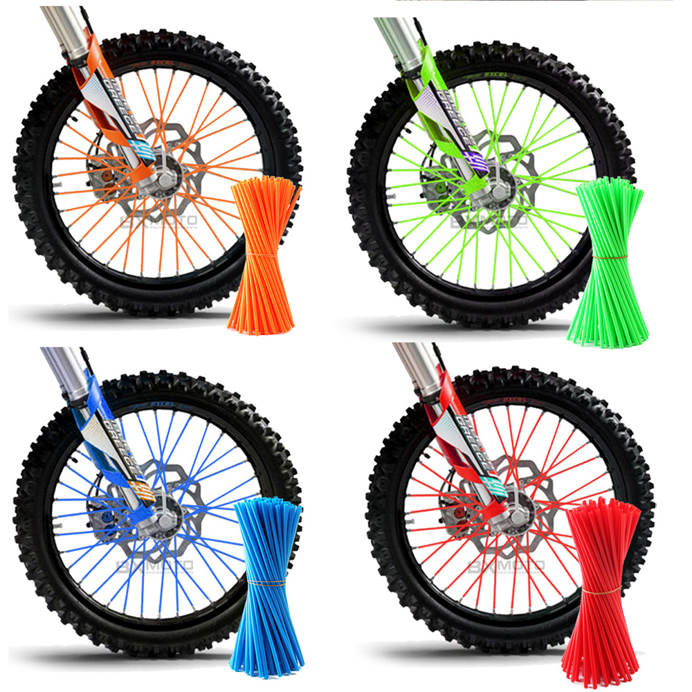 Motorcycle Dirt Bike Enduro Off Road Rim Wheel spoke skins For honda crf 450 CR CRF XR XL 85 125 250 500 KTM KAWASAKI YAMAHA BMW for honda crf 250r 450r 2004 2006 crf 250x 450x 2004 2015 red motorcycle dirt bike off road cnc pivot brake clutch lever