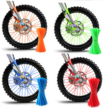 Motocicleta Dirt Bike Enduro Off Road Rim Wheel spoke skins para honda crf 450 CR CRF XR XL 85 125 500 250 KTM KAWASAKI YAMAHA BMW(China)