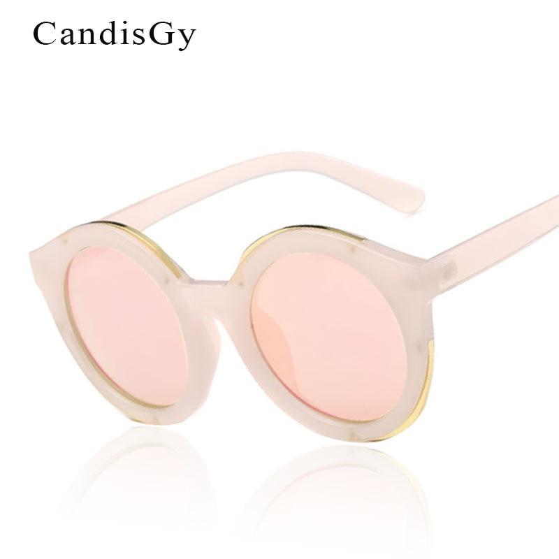 lady sunglasses for sale fll0  Rose Gold Round Mirror Sunglasses Hot Sale Women Hipster Men Brand Designer  Sun Glasses Lady Female