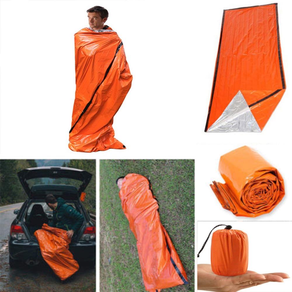 Emergency Sleeping Bag Thermal Waterproof For Outdoor Survival Camping Hiking Camp Sleeping Gears Sleeping Bag #sx