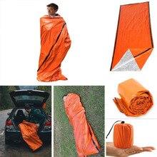 Аварийный спальный мешок, термальный водонепроницаемый для выживания на открытом воздухе, кемпинга, Походов, Кемпинга, спальный мешок, спальный мешок& xs