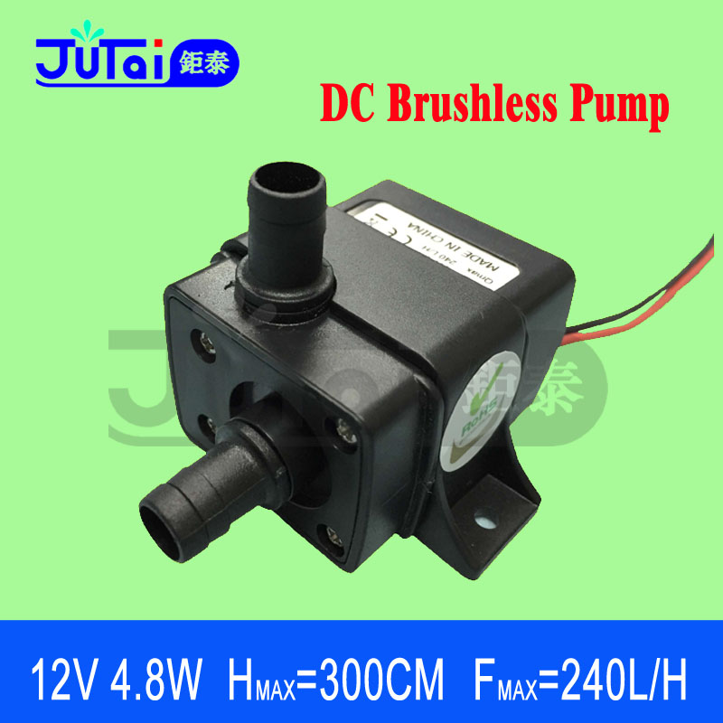 Mini Water Pump 12V 4.8W 300CM 240L/H low pressure electric fuel Submersible Aquarium Brushless Electric - Shenzhen Jutai Co. Ltd store