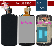 4.7'' Display For LG Optimus Google Nexus 4 LCD Display For LG E960 LCD Touch Screen Nexus4 LCD With frame Replacement стоимость