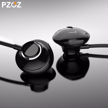 PZOZ S1 Bass Earphone 3.5mm Wired control Headset With Mic In Ear sport earbud earphones For iphone xiaomi Samsung Huawei MP3 PC