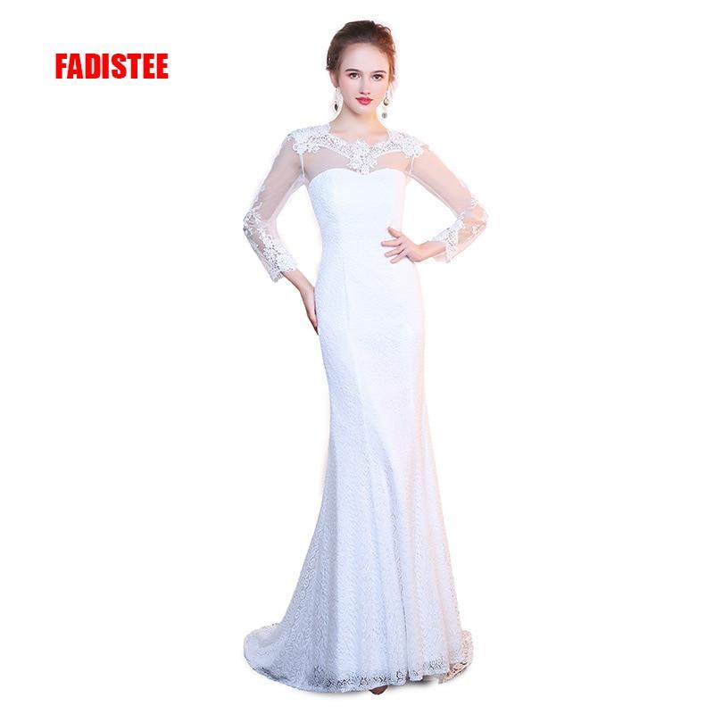 FADISTEE New Arrival Elegant Wedding Party Dresses Lace Vestido De Festa Mermaid Appliques Sexy Backless Long Lace Style