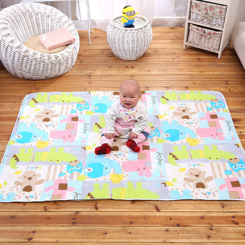 Mother & Kids Nappy Changing Cartoon Cotton Diaper Pad Baby Waterproof Mat Large Baby Mat Cover Infant Urine Pad Mattress Sheet Protector Bedding