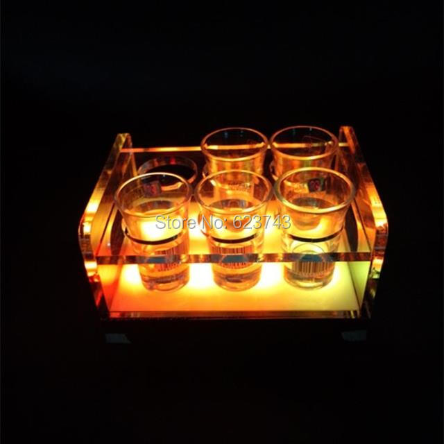 rechargeable multicolor Plastic  led shot glass holder (1)