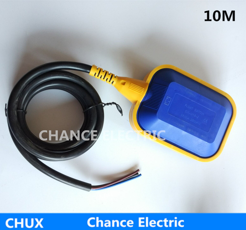 10m specially items water level sensor control liquid float switch  for Industry pump and tank Fluid Level Sensor (CX-M15-2) 4a 8a level float switch pp water level control for water pump water tower tank normally closed
