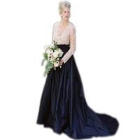 Formal Style Wedding Skirt Custom Made A Line Floor Length Maxi Skirt With Long Train Elegant