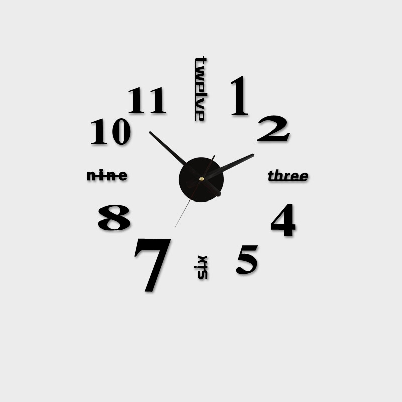 Acrylic Best Home Decoration Diy Wall Clock Unique Large