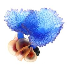 Colorful Artificial Fake Resin Coral Wall Water Aquarium Decoration Fish Tank Ornament Blue